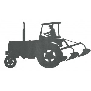 Silueta Tractor