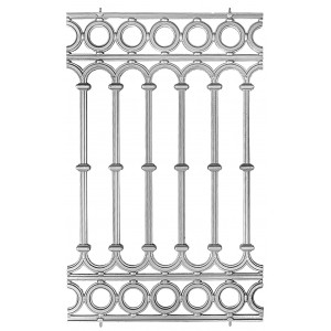 Balaustrada Aluminio Fundido