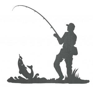 Silueta  Pescador