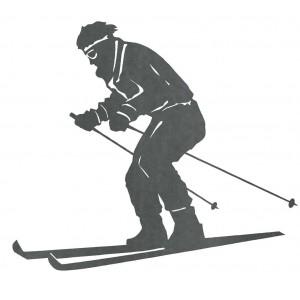 Silueta  Esquiador