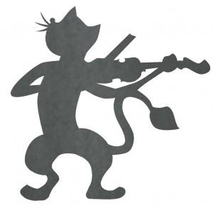 Silueta Gato Violinista