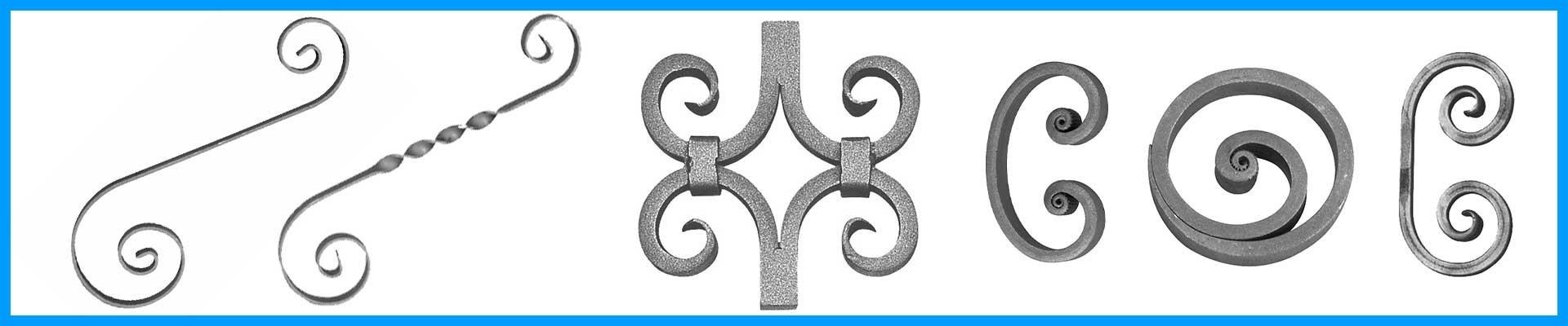 Piezas centrales, Eses , Volutas y Caracolas Ref. 05050 a Ref. 05262.39