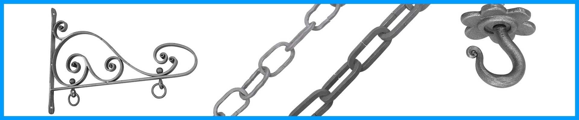 Soportes, banderolas, ganchos y cadenas Ref. 07433 a Ref. 07479